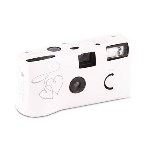 Enchanted Hearts White And Silver Single Use Camera-Jubilee Favors