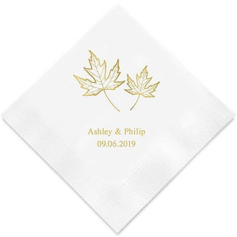 Fall Leaf Printed Paper Napkins-Jubilee Favors