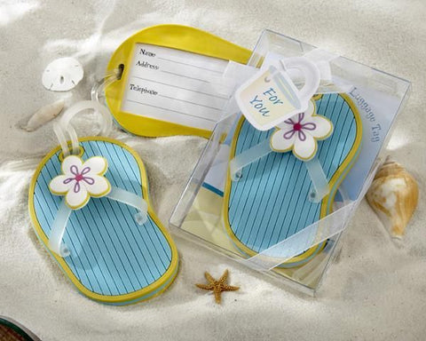 Flip-Flop Luggage Tag in Beach-Themed Gift Box-Jubilee Favors