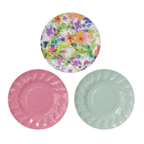Floral Fiesta Mini Canape Paper Plates-Jubilee Favors