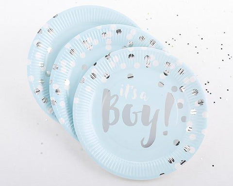 Foil Paper Plates - It's A Boy! for $ 2.99 at Jubilee Favors