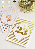 Foil Table Numbers-Jubilee Favors
