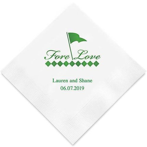 Fore Love Golf Printed Paper Napkins-Jubilee Favors