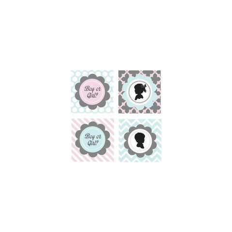 Gender Reveal Party Decorative Favor Tags (Set of 20)-Jubilee Favors
