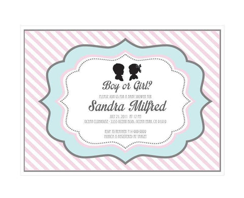 Gender Reveal Party Invitations-Jubilee Favors