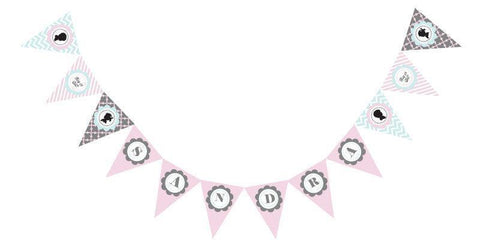 Gender Reveal Party Pennant Banner-Jubilee Favors