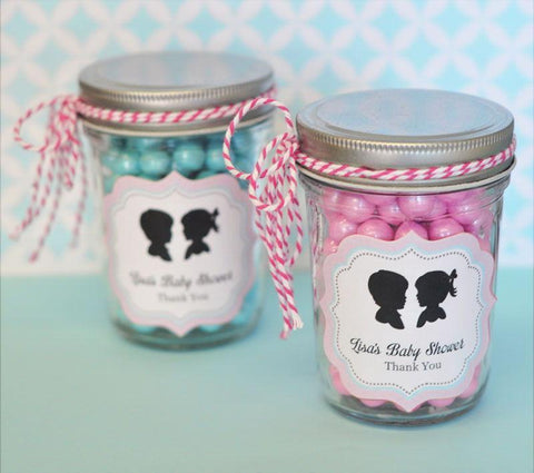 Gender Reveal Party Personalized Mini Mason Jars-Jubilee Favors