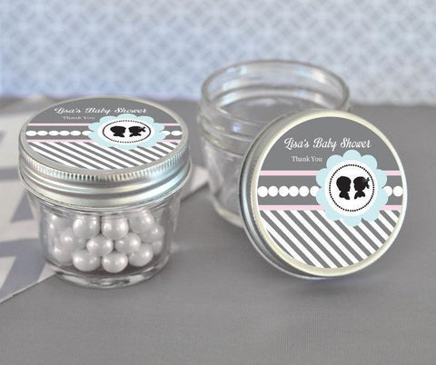 Gender Reveal Party Small 4 oz Mason Jars-Jubilee Favors