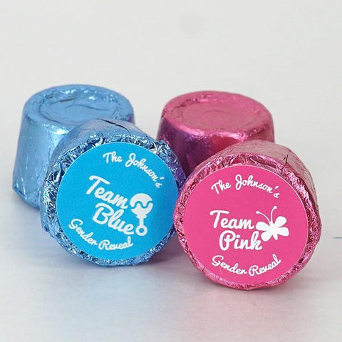 Gender Reveal Team Pink or Blue Rolo Chocolates (Set of 200)-Jubilee Favors