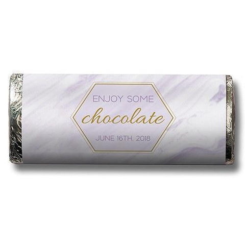 Geo Marble Nut Free Gourmet Milk Chocolate Bar (Set of 8)-Jubilee Favors