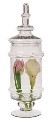 Glass Apothecary Jar (Cassia design)-Jubilee Favors