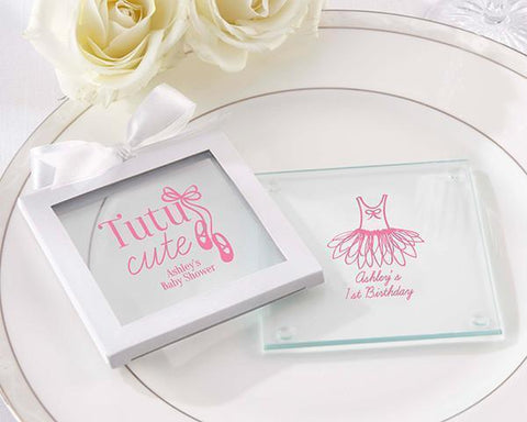 Glass Coaster - Tutu Cute (Set of 36)-Jubilee Favors
