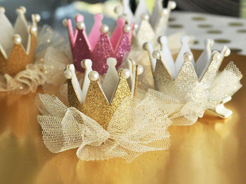 Glitter Crown Clips-Jubilee Favors