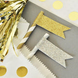 Glitter Flag Labels (set of 24)-Jubilee Favors