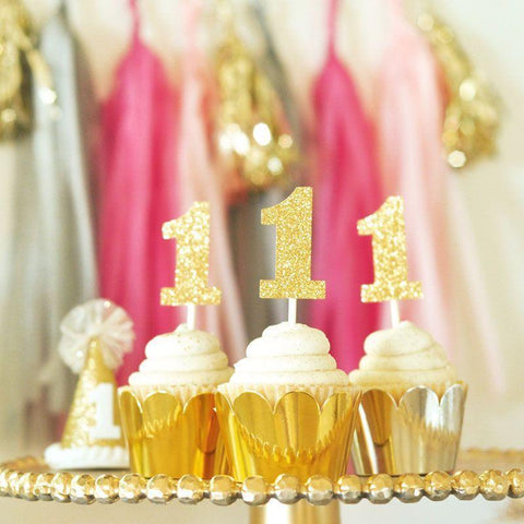 Glitter Numbers Stickers (Set of 24)-Jubilee Favors
