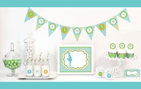 Going to Pop - Blue Decorations Starter Kit-Jubilee Favors