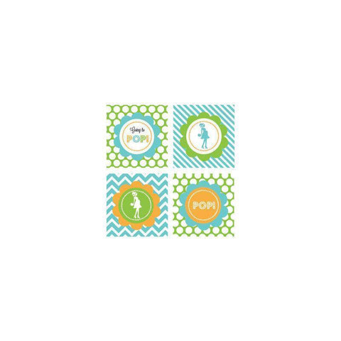 Going to Pop - Blue Decorative Favor Tags (Set of 20)-Jubilee Favors