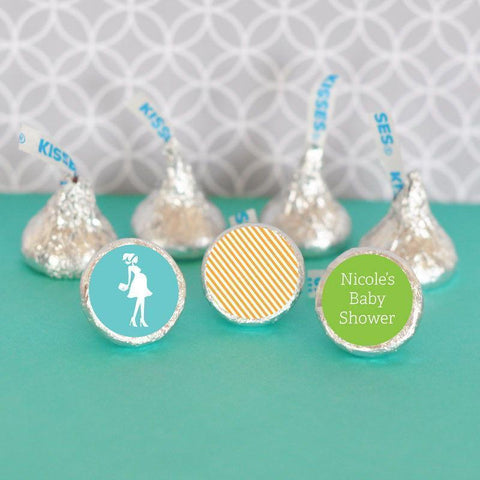 Going to Pop Blue Hershey's® Kisses Labels Trio (Set of 108)-Jubilee Favors