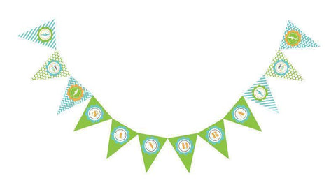 Going to Pop - Blue Pennant Banner-Jubilee Favors