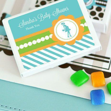 Going to Pop - Blue Personalized Gum Boxes-Jubilee Favors