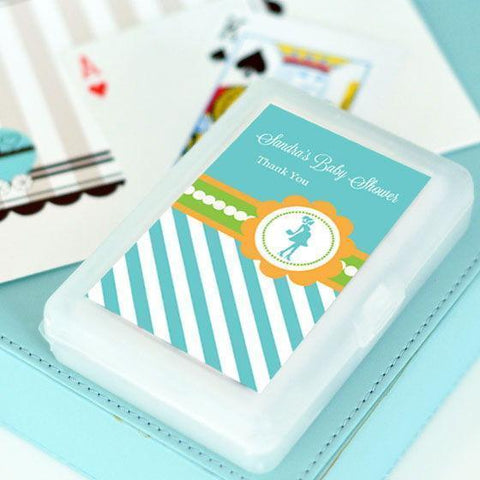 Going to Pop - Blue Personalized Playing Cards-Jubilee Favors