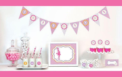 Going to Pop - Pink Decorations Starter Kit-Jubilee Favors