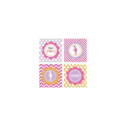 Going to Pop - Pink Decorative Favor Tags (Set of 20)-Jubilee Favors