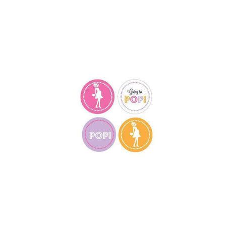 Going to Pop - Pink Decorative Mini Stickers (Set of 32)-Jubilee Favors