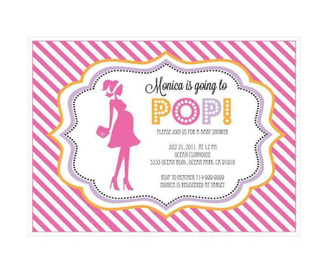 Going to Pop - Pink Invitations-Jubilee Favors