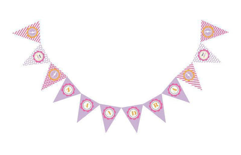 Going to Pop - Pink Pennant Banner-Jubilee Favors