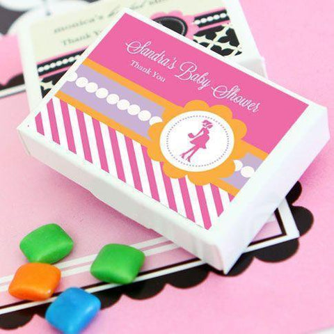 Going to Pop - Pink Personalized Gum Boxes-Jubilee Favors
