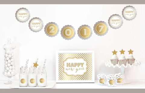 Gold & Glitter New Years Party Decor Kit-Jubilee Favors