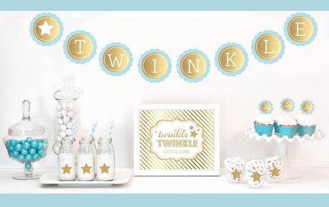 Gold & Glitter Twinkle Twinkle Party Kit-Jubilee Favors