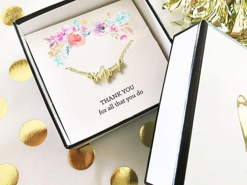 Gold Mom Necklace-Jubilee Favors