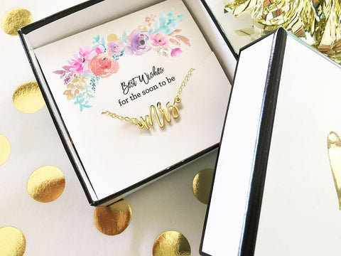 Gold Mrs Necklace-Jubilee Favors