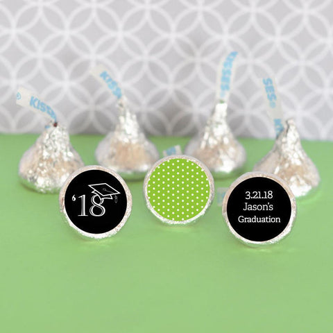 Graduation Personalized Hershey's® Kisses Labels Trio (Set of 108)-Jubilee Favors