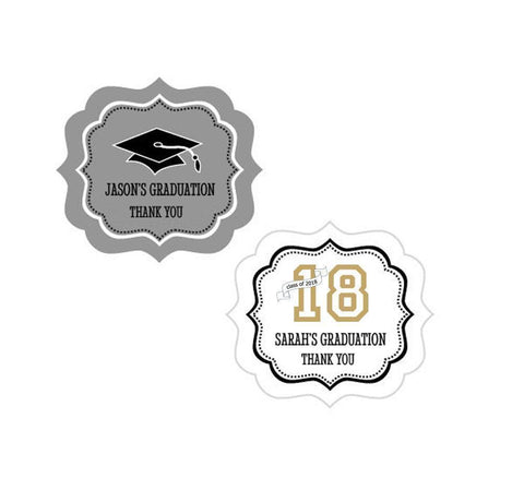 Graduation Theme Personalized Frame Labels-Jubilee Favors