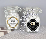 Graduation Theme Personalized Glass Jar with Swing Top Lid - SMALL-Jubilee Favors