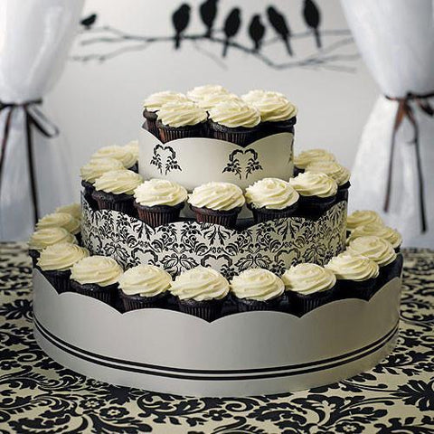 Grand Display Tower For Cupcakes - Love Bird Damask-Jubilee Favors