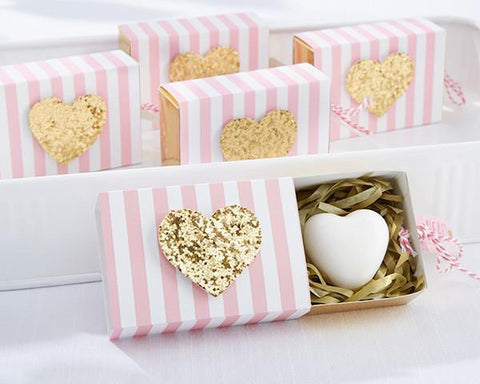 """Heart Of Gold"" Scented Heart Soap-Jubilee Favors"