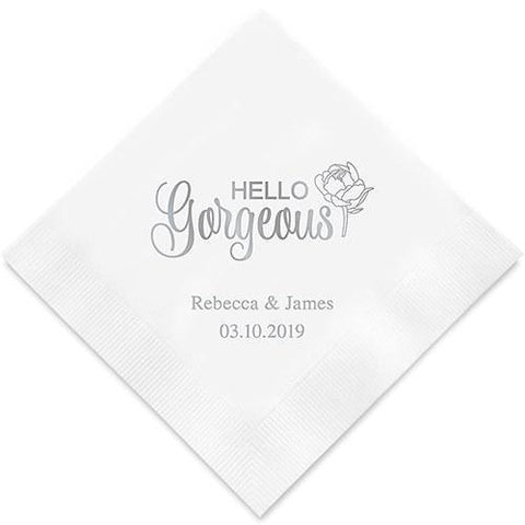 Hello Gorgeous Printed Paper Napkins-Jubilee Favors