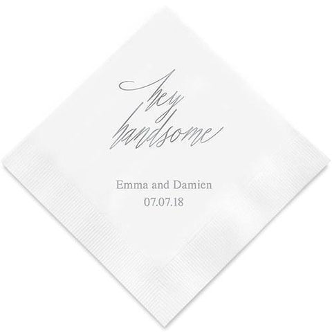 Hey Handsome Printed Paper Napkins-Jubilee Favors