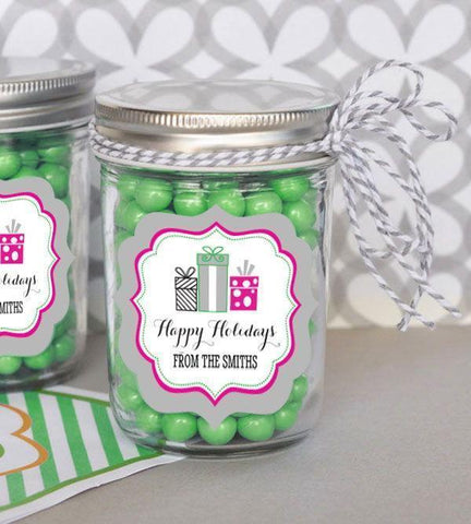 Holiday Party Personalized Mini Mason Jars-Jubilee Favors