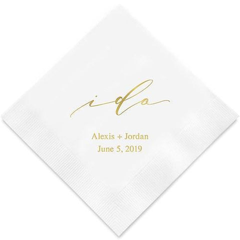 I Do Printed Napkins-Jubilee Favors