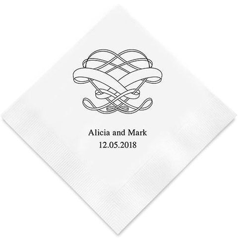 Infinite Heart Printed Paper Napkins-Jubilee Favors
