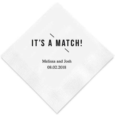 It's A Match! Printed Paper Napkins-Jubilee Favors