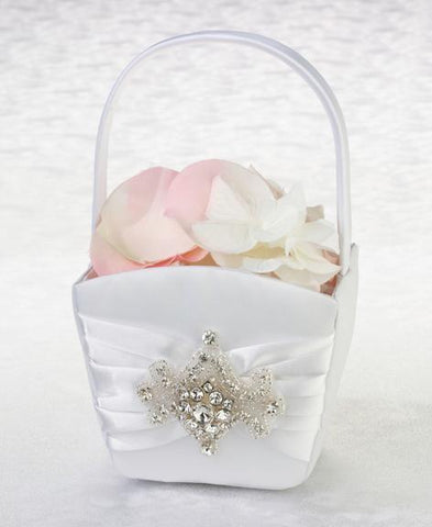 Jeweled Motif Flower Girl Basket-Jubilee Favors