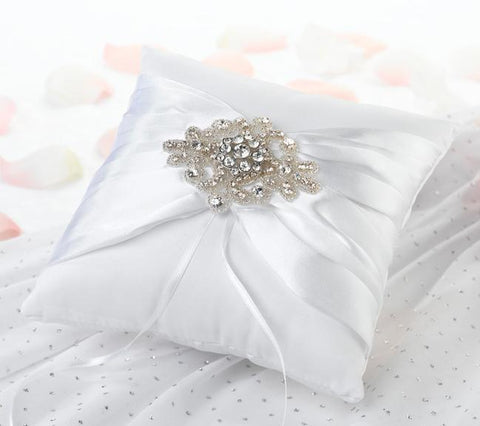 Jeweled Motif Ring Bearer Pillow-Jubilee Favors