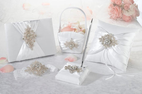 Jeweled Motif Wedding Accessory Set-Jubilee Favors