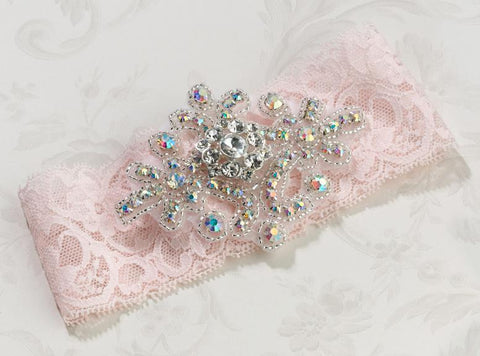 Jeweled Pink Garter-Jubilee Favors
